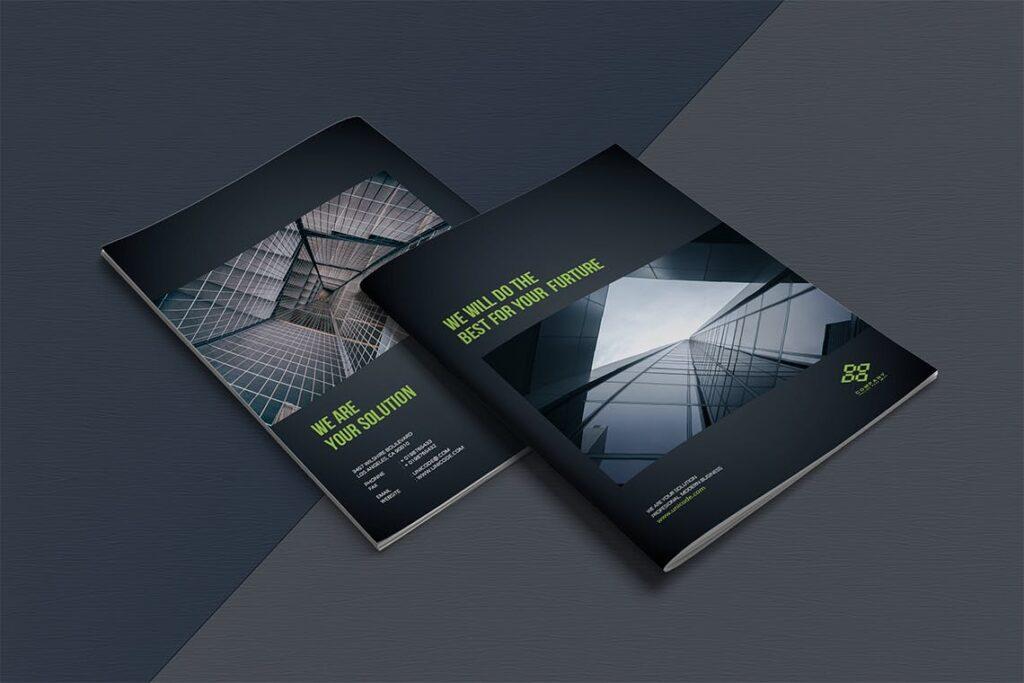 整洁典现代专业的企业商务手册模板Business Brochure Template DV95G插图(10)