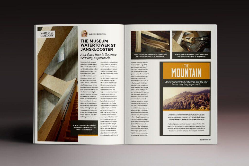 32页时代周刊画册杂志模板Des12n Magazine Indesign Template插图(8)