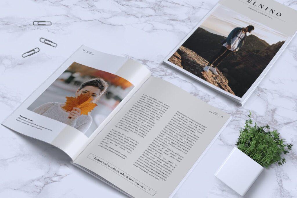 高端企业品牌宣传画册模板ELNINO Minimal Magazine插图(8)
