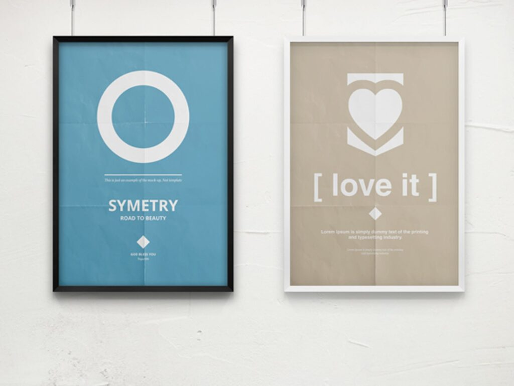 海报展示画框相框模型样机效果图Frame For Your Work 2插图(10)