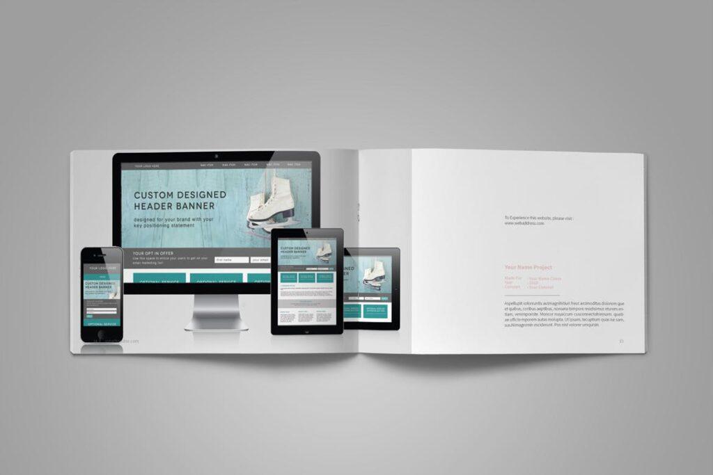 设计师工作产品/室内设计/家居设计展示画册模版Graphic Design Portfolio Template插图(10)