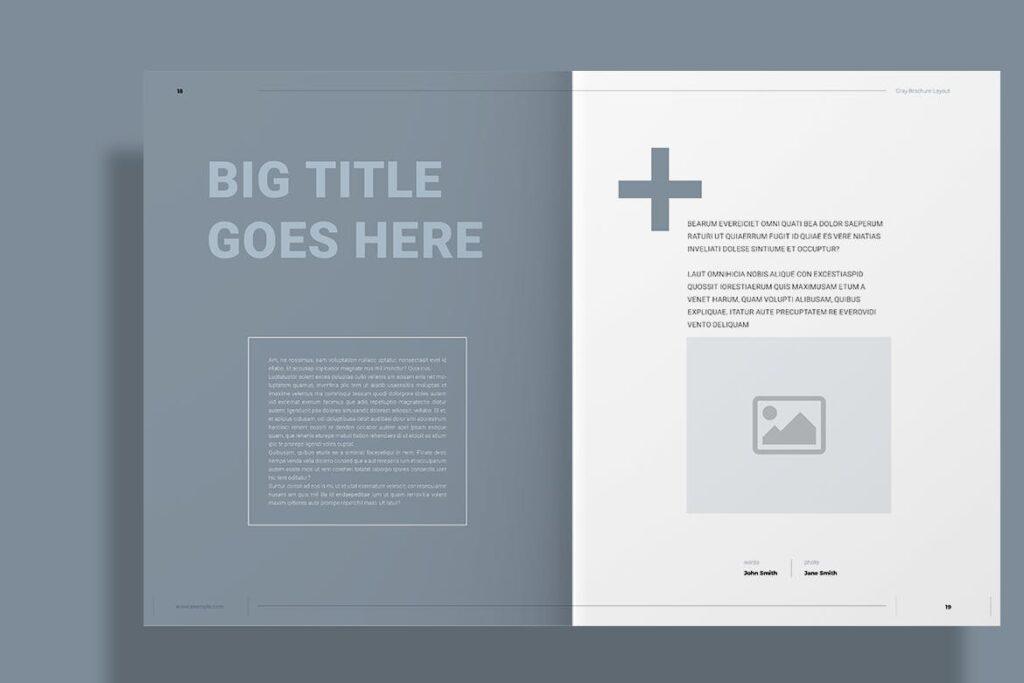 黑白经典艺术摄影画册杂志模板Gray Brochure插图(9)