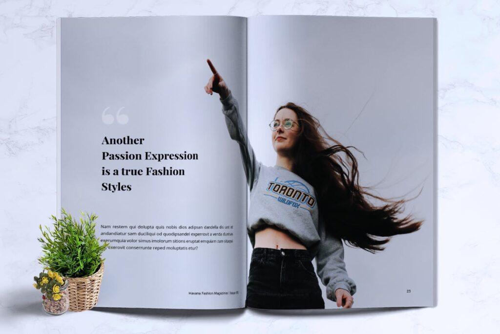 简约风格摄影工作室画册杂志模板HAVANA Minimal Magazine Fashion插图(10)
