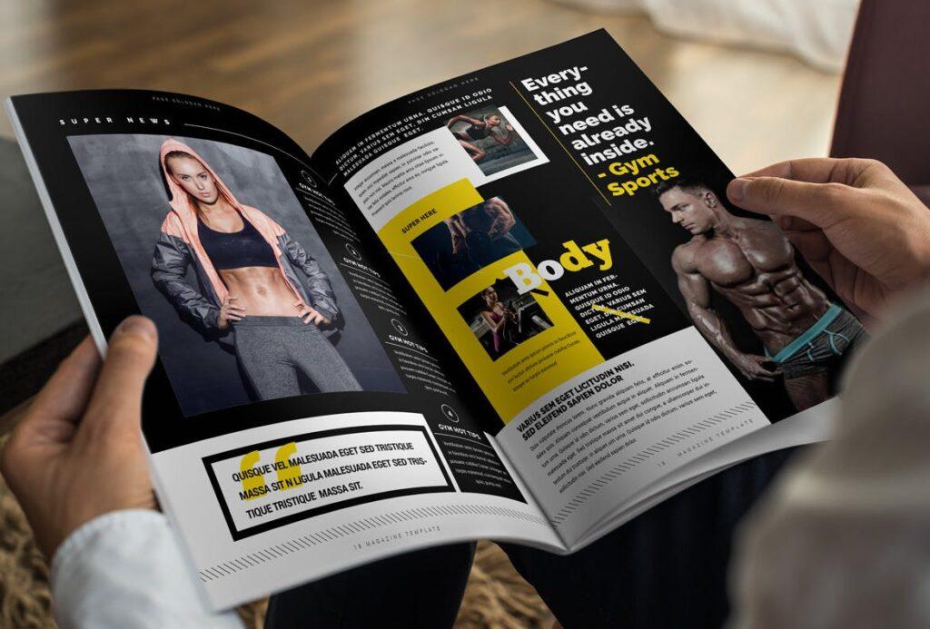 健身运动主题周刊杂志模板/Magazine插图(10)