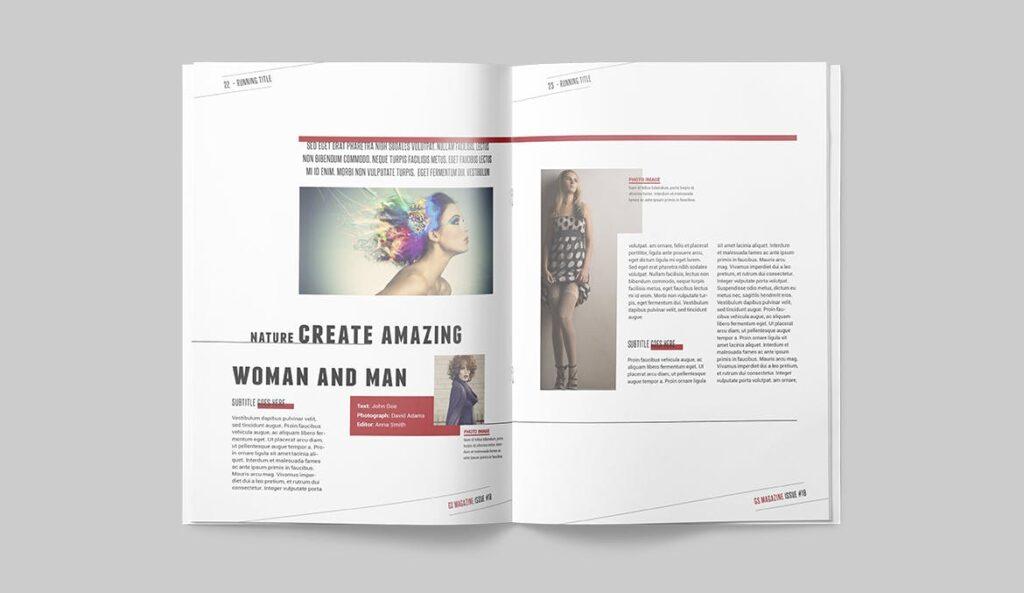 精英访谈采访主题杂志模板素材Magazine Template 8NSXE49插图(9)