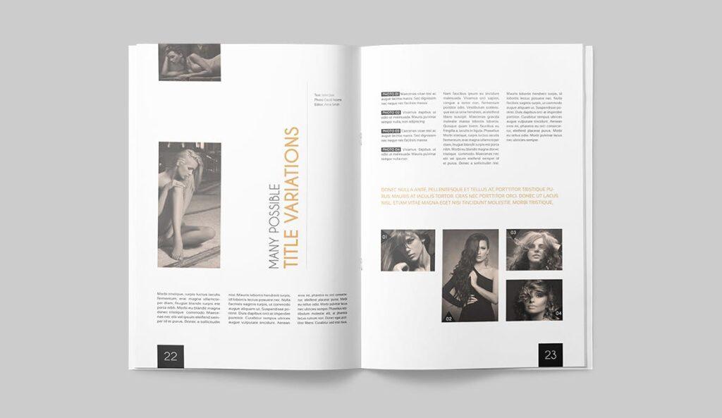 企业多用途杂志画册模板素材下载Magazine Template 4DG6APQ插图(10)
