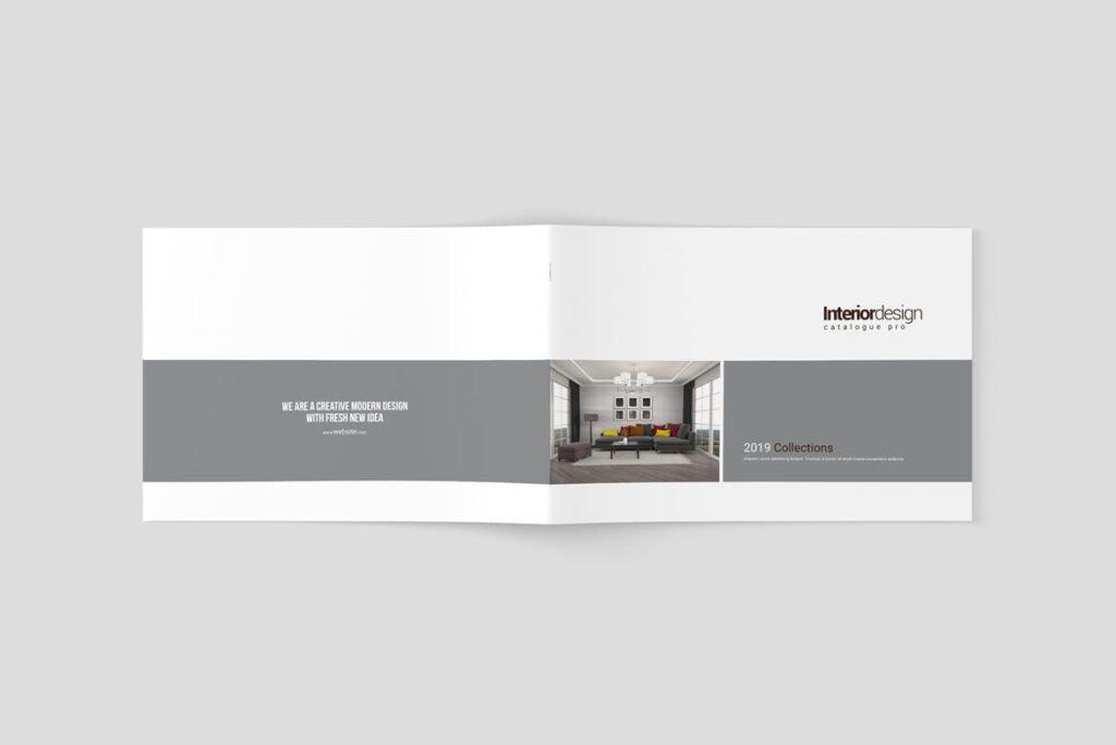 横版室内设计小册子/目录画册模板Minimal Interior Brochure插图(9)