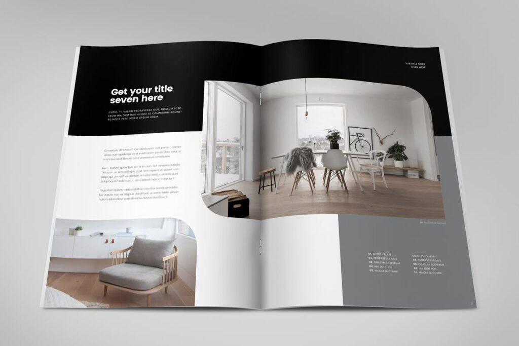 极简室内设计/居家生活美学杂志画册模板Minimal Interior Design Magazine插图(10)
