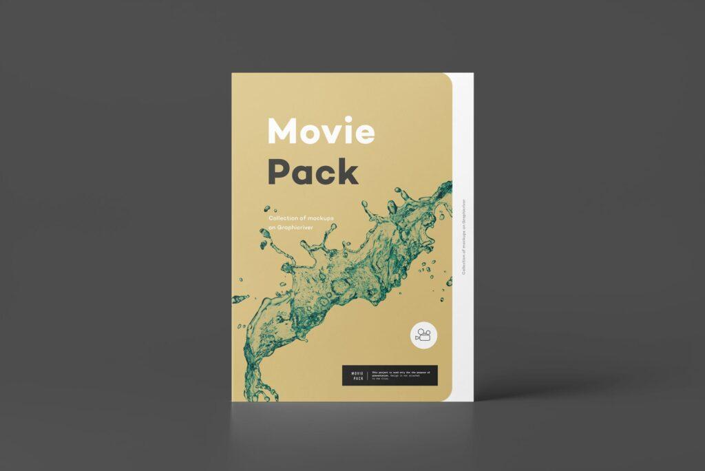 古典电影CD光盘包装/古典音乐唱片模型样机素材模型1Movie Pack Mockup 1插图(10)