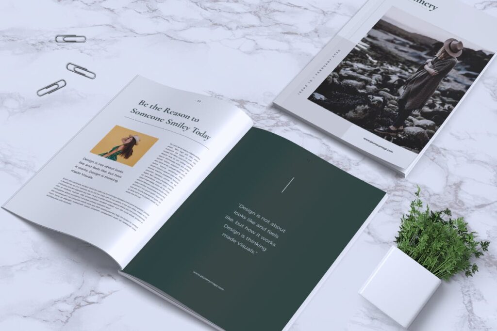 简约企业商务小册子目录/多用途画册模板PLUMERY Minimal Magazines插图(10)