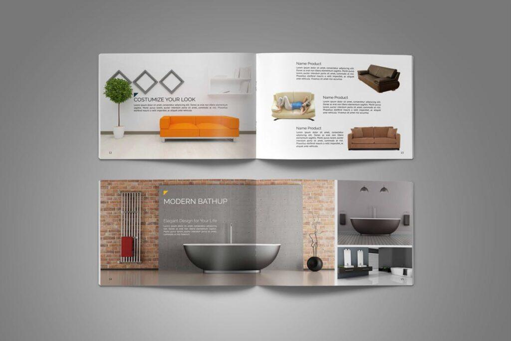 横版家居产品介绍/目录/投资组合画册模版素材Portfolio Brochure Catalog插图(8)