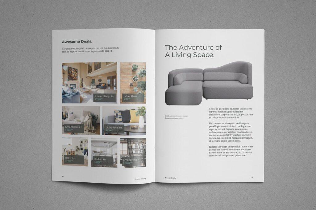 现代专业的产品目录小册子模板素材Product Catalog Brochure插图(10)