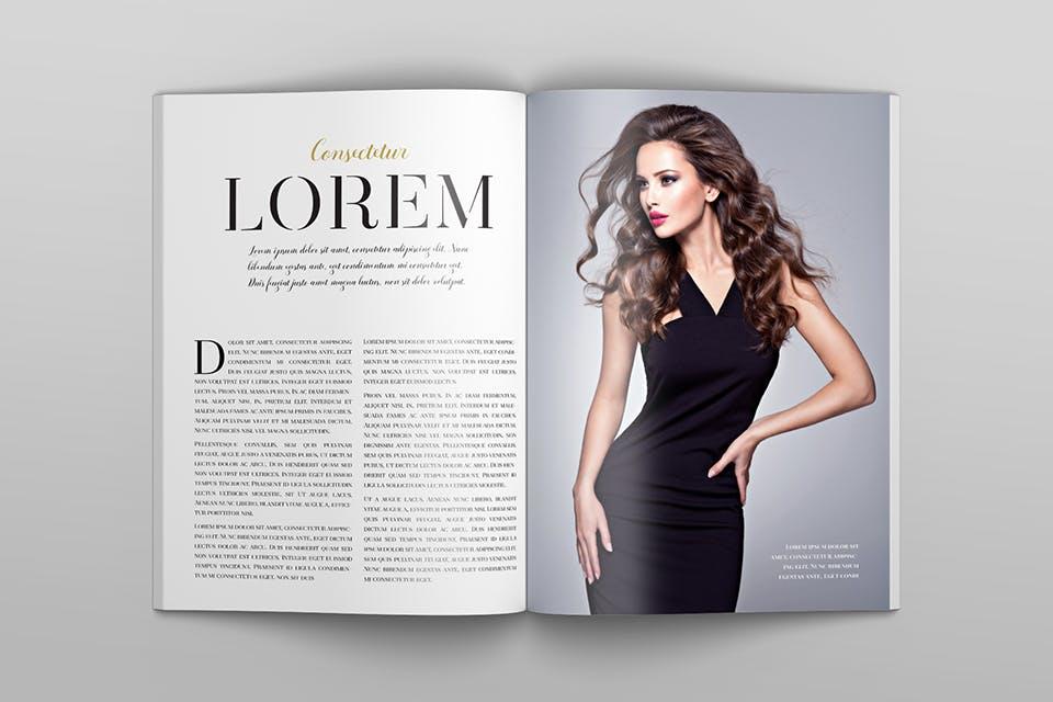 时尚服装杂志/封面/内页样机展示US Letter Magazine Mockup VN7KUN插图(8)