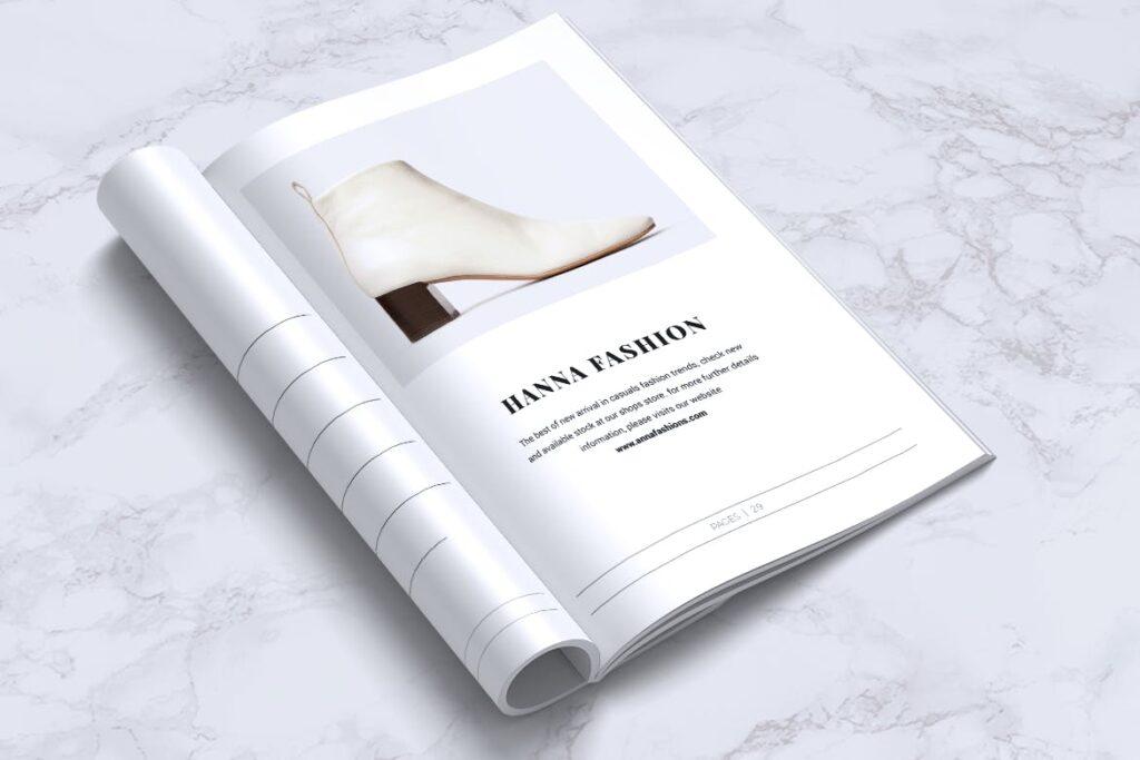 女性时尚服装品牌杂志模板BLANKS Minimal Fashion Magazine插图(11)