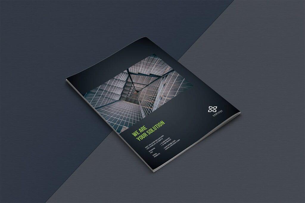 整洁典现代专业的企业商务手册模板Business Brochure Template DV95G插图(11)
