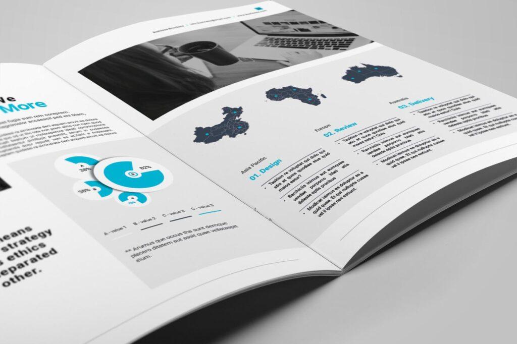 企业简介商务手册历史介绍杂志画册模板Business Profile插图(11)