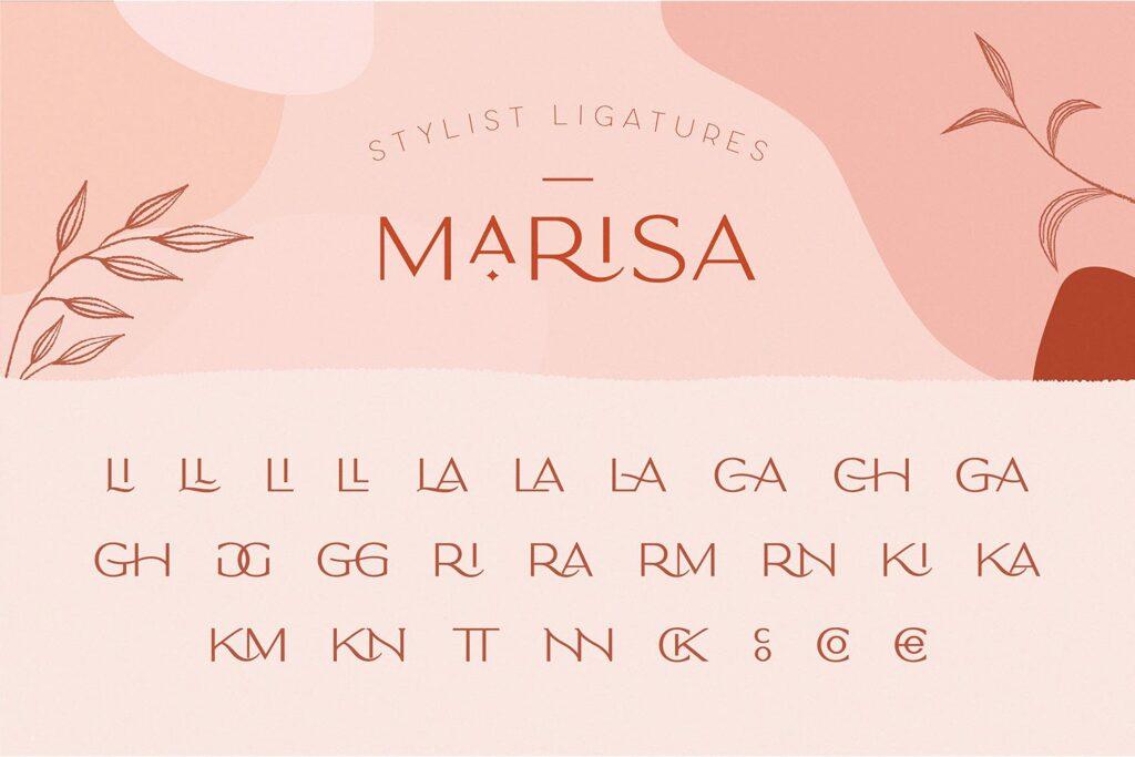 服装品牌装饰手写字体下载Classy Marisa Elegant Typeface插图(10)