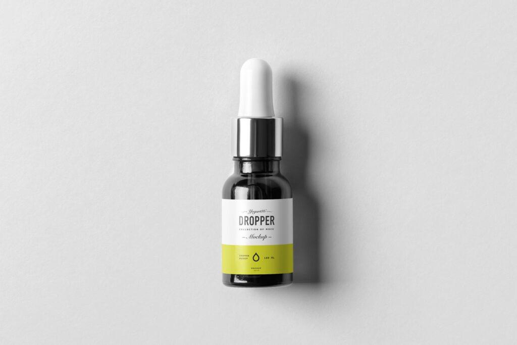 简约医药滴瓶方形包装盒样机包装模型样机素材下载Dropper Bottle MockUp 4Y7FR插图(11)