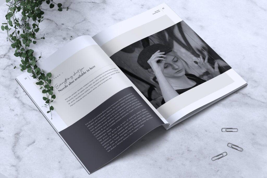 高端企业品牌宣传画册模板ELNINO Minimal Magazine插图(10)