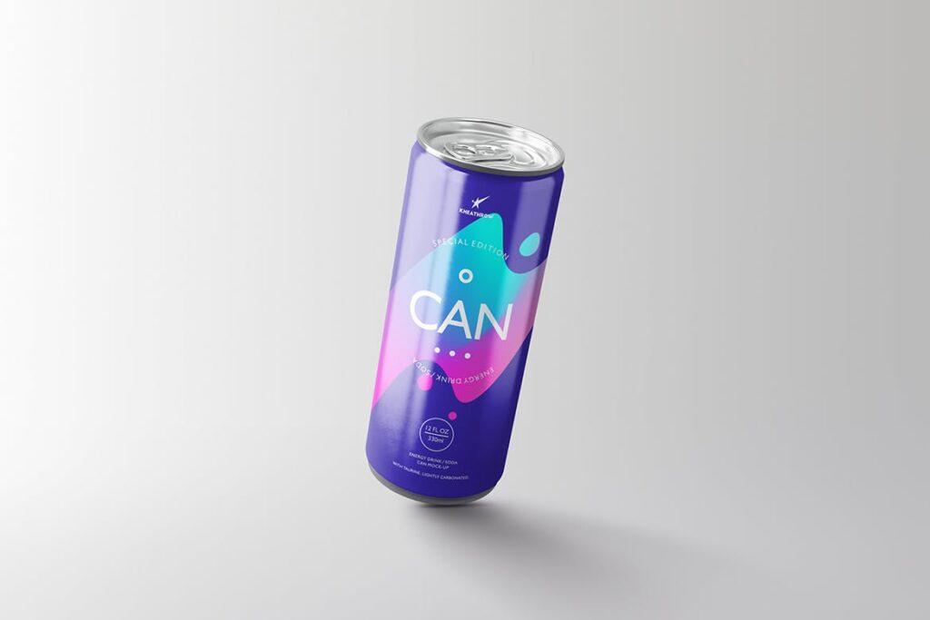 简约能量/苏打饮料易拉罐包装模型样机Energy Soda Drink Can Packaging MockUps Vol1插图(10)