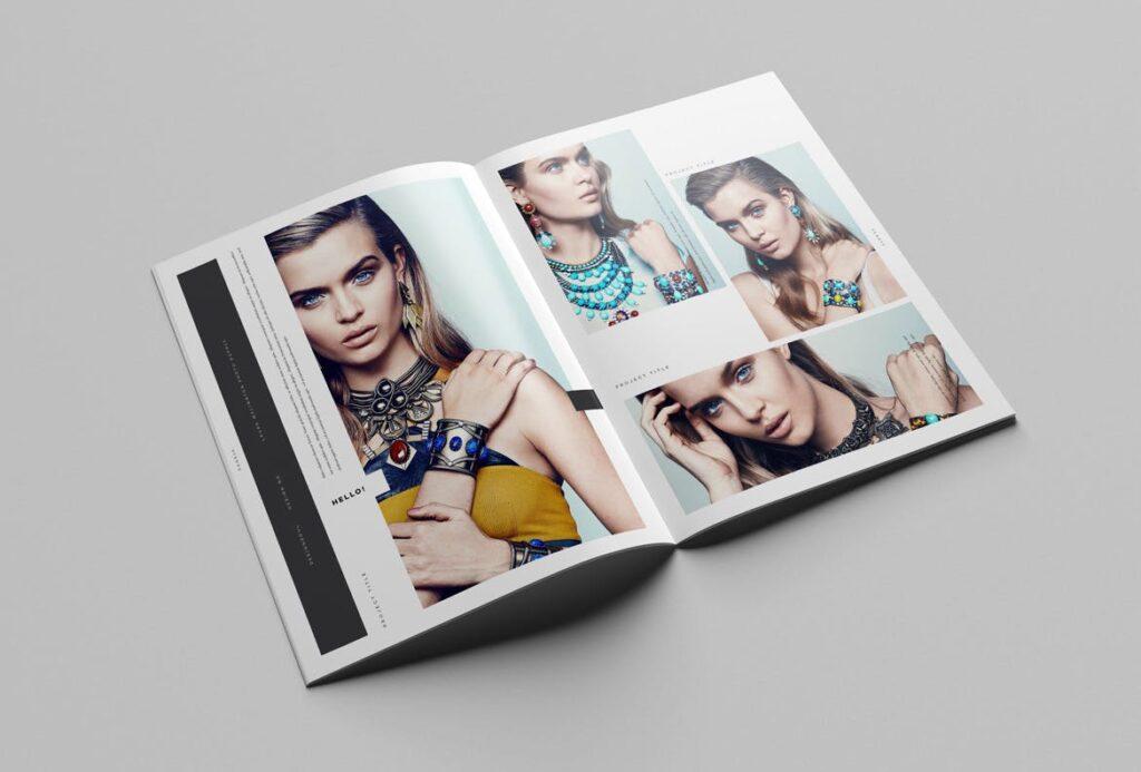 时尚摄影简洁板式画册杂志模板素材下载Fashion Photography Catalog Brochure插图(9)
