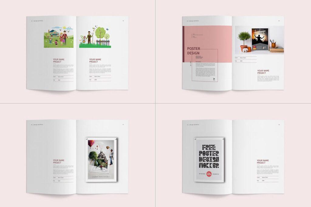 精致文艺室内设计画册模版素材Graphic Design Portfolio Template插图(11)