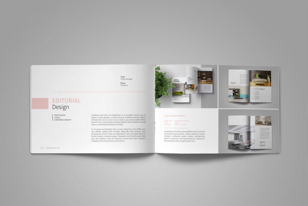 设计师工作产品/室内设计/家居设计展示画册模版Graphic Design Portfolio Template插图(11)