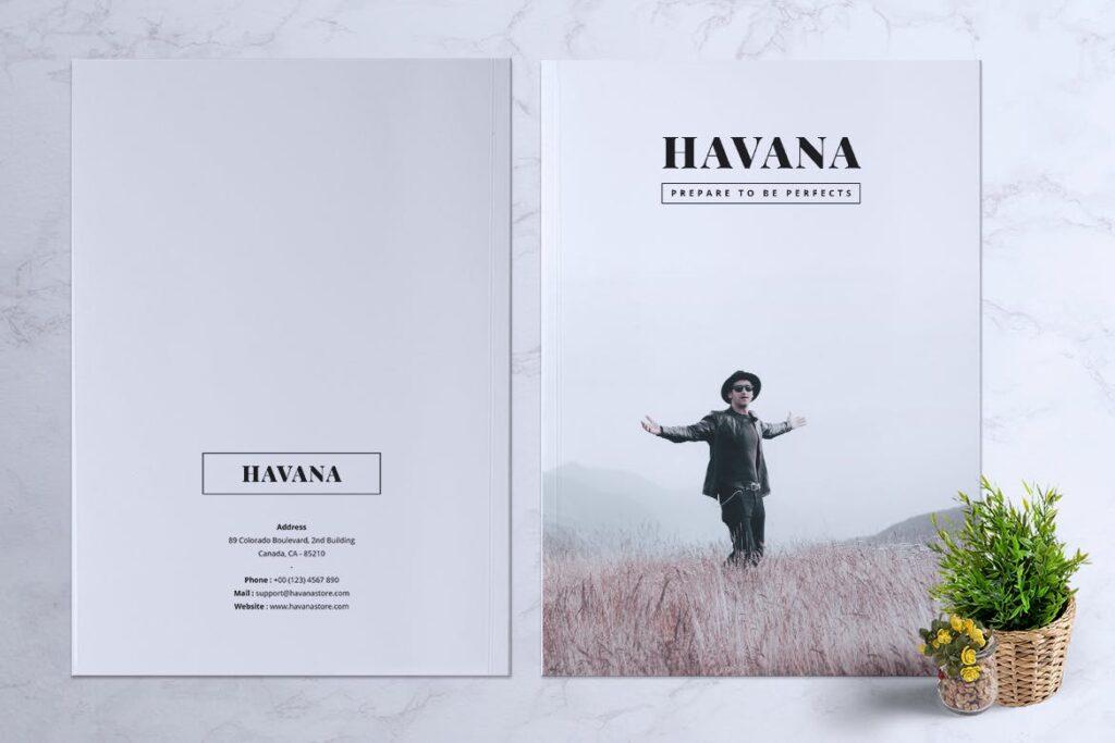 简约风格摄影工作室画册杂志模板HAVANA Minimal Magazine Fashion插图(11)