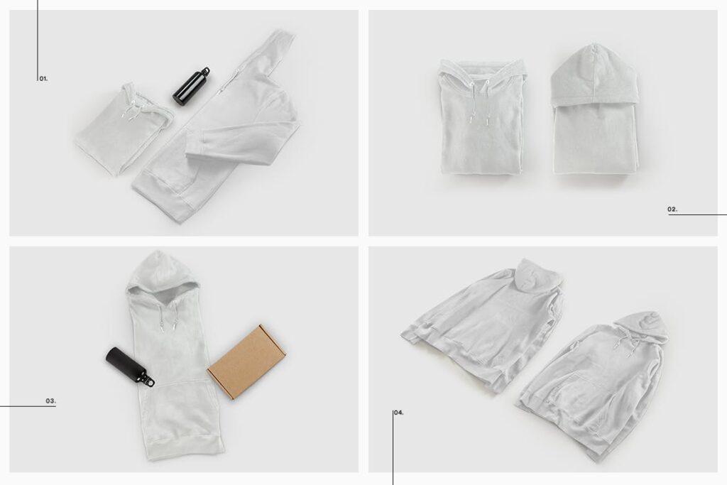卫衣服装品牌展示样机模型效果图Hoodie Sweatshirt Presentation Mockup插图(10)
