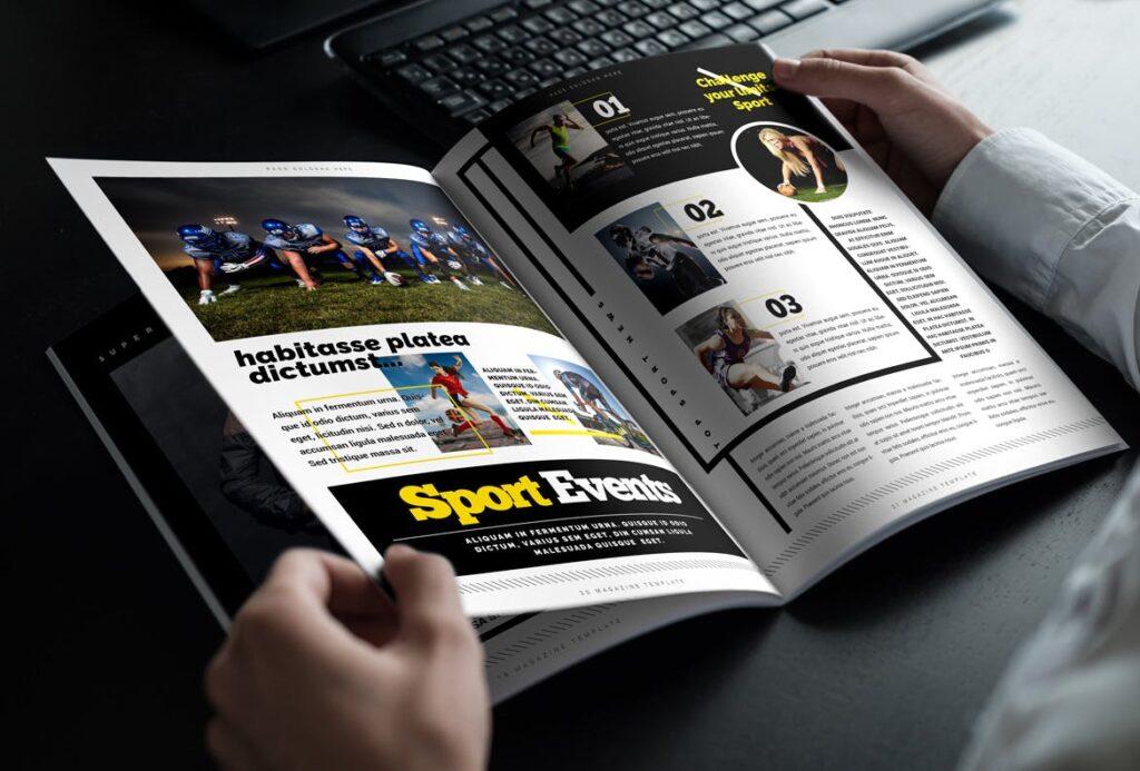 健身运动主题周刊杂志模板/Magazine插图(11)
