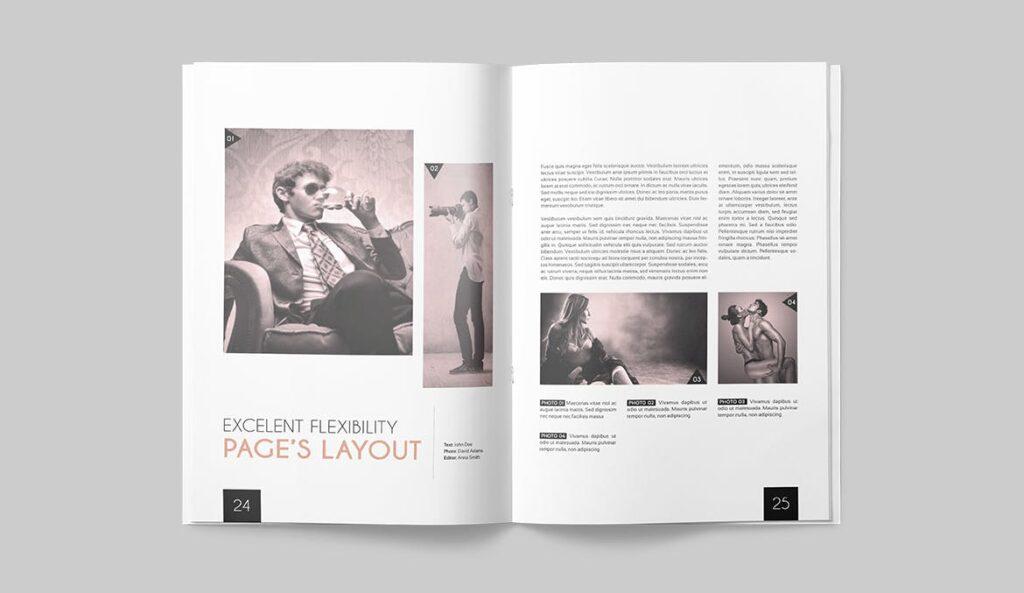 企业多用途杂志画册模板素材下载Magazine Template 4DG6APQ插图(11)