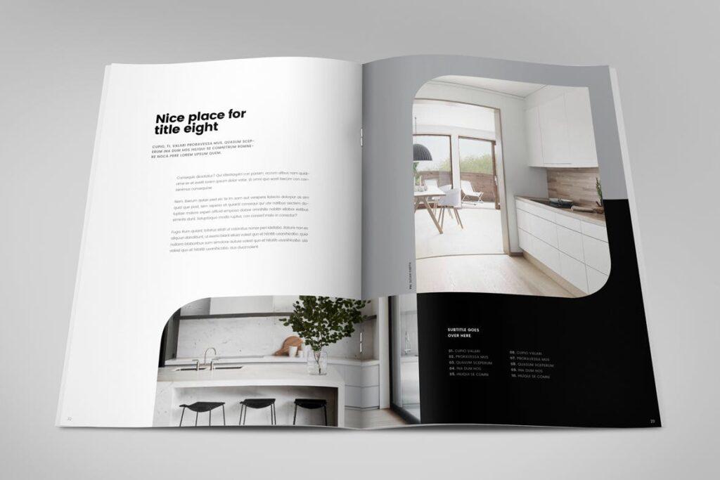 极简室内设计/居家生活美学杂志画册模板Minimal Interior Design Magazine插图(11)