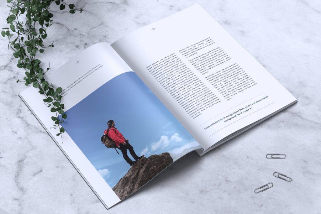 简约企业商务小册子目录/多用途画册模板PLUMERY Minimal Magazines插图(11)
