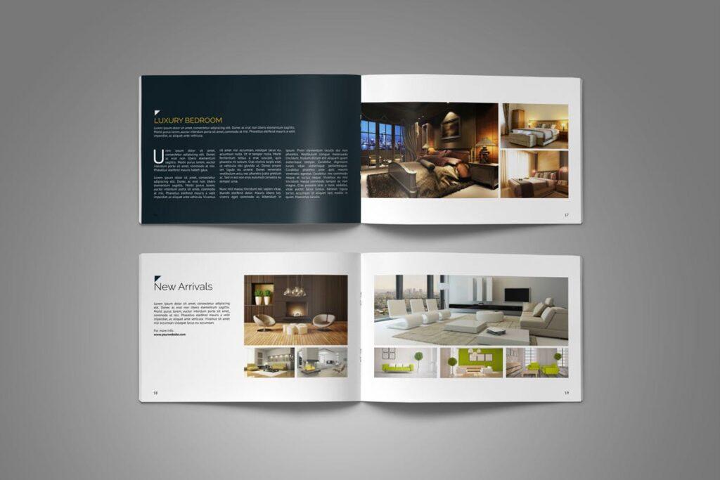 横版家居产品介绍/目录/投资组合画册模版素材Portfolio Brochure Catalog插图(9)