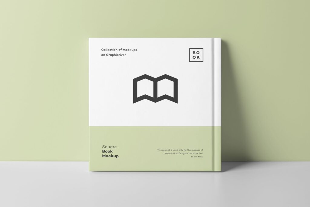 文艺优雅正方形书籍样机模板下载Square Book Mock up 2插图(10)