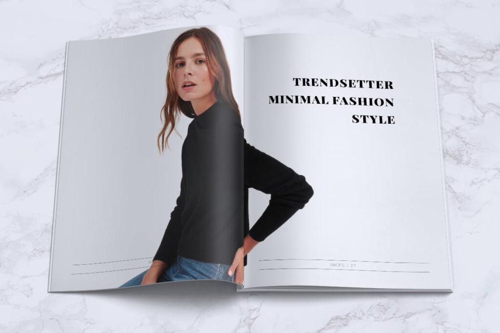 女性时尚服装品牌杂志模板BLANKS Minimal Fashion Magazine插图(12)