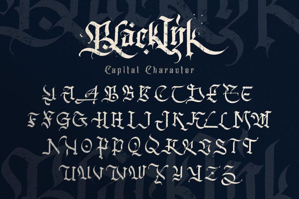 万圣节主题海报宣传衬线英文字体下载Blackink Blackletter Font插图(12)