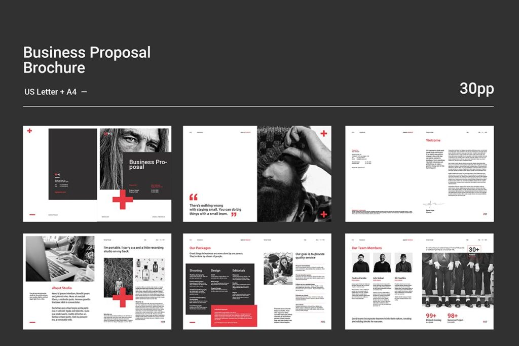 公司手册项目企划书画册模版素材Business Proposal插图(11)