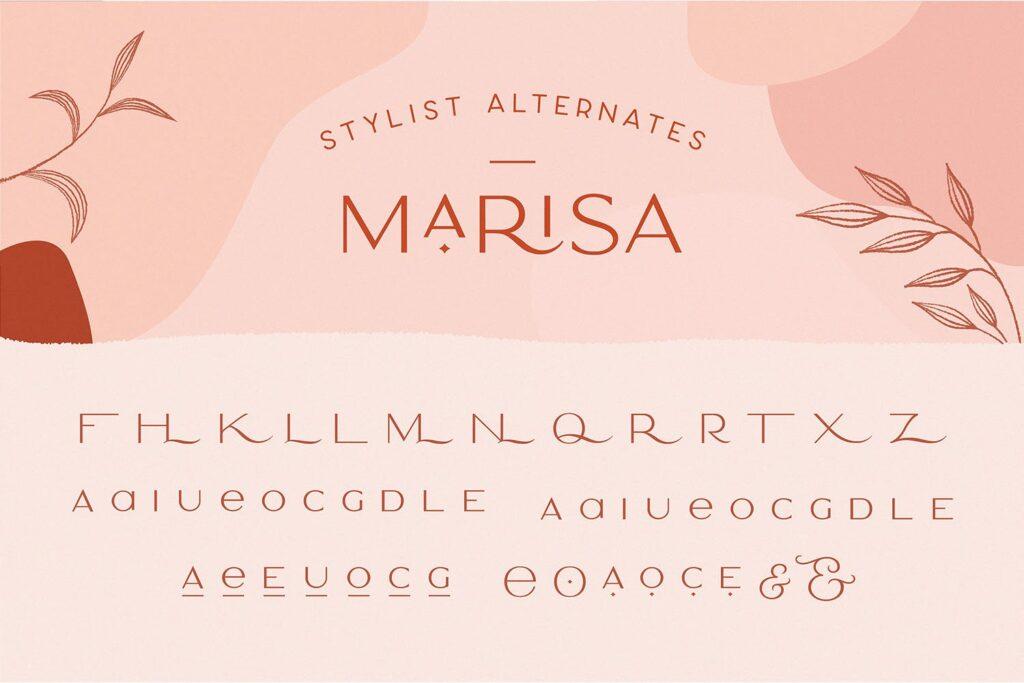 服装品牌装饰手写字体下载Classy Marisa Elegant Typeface插图(11)