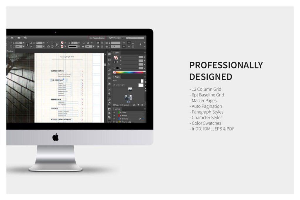公司动态展示商业手册优雅简洁画册杂志模板Company Profile 001插图(11)