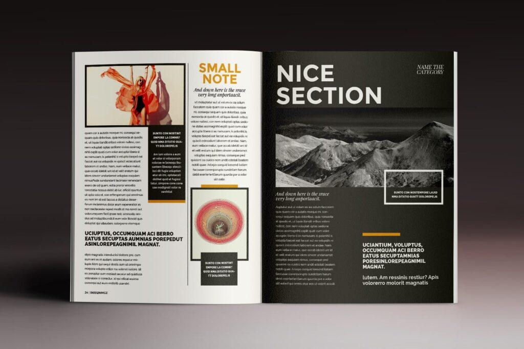 32页时代周刊画册杂志模板Des12n Magazine Indesign Template插图(10)