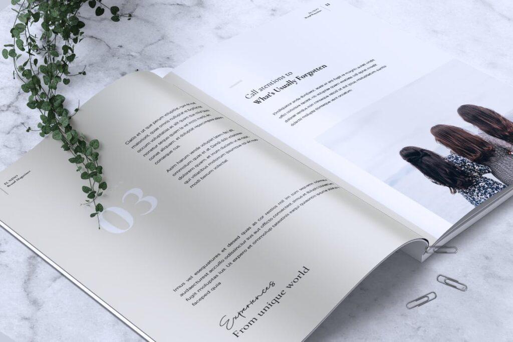 高端企业品牌宣传画册模板ELNINO Minimal Magazine插图(11)