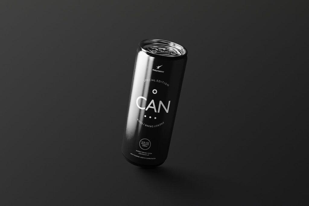 简约能量/苏打饮料易拉罐包装模型样机Energy Soda Drink Can Packaging MockUps Vol1插图(11)