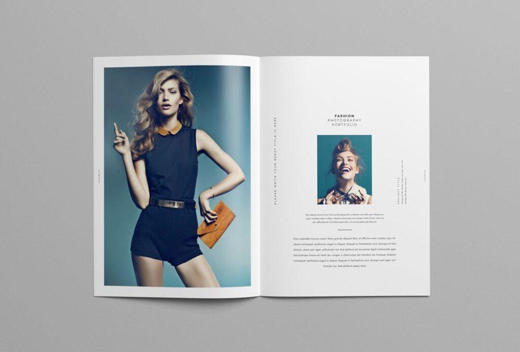 时尚摄影简洁板式画册杂志模板素材下载Fashion Photography Catalog Brochure插图(10)