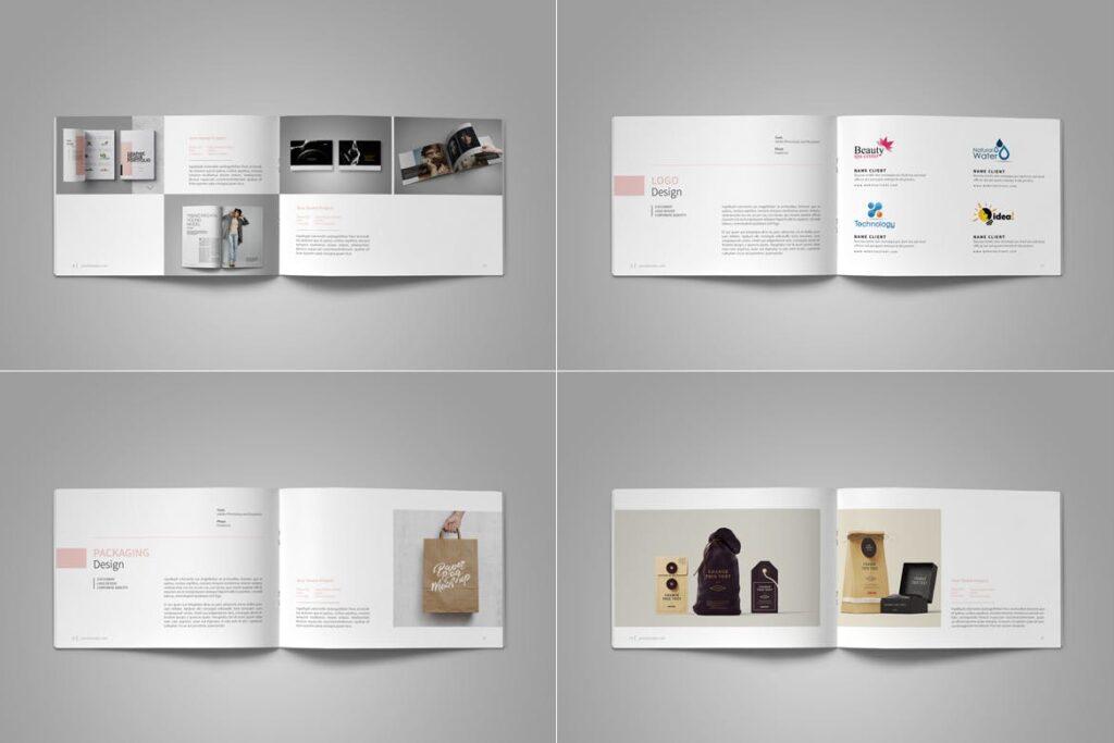 设计师工作产品/室内设计/家居设计展示画册模版Graphic Design Portfolio Template插图(12)