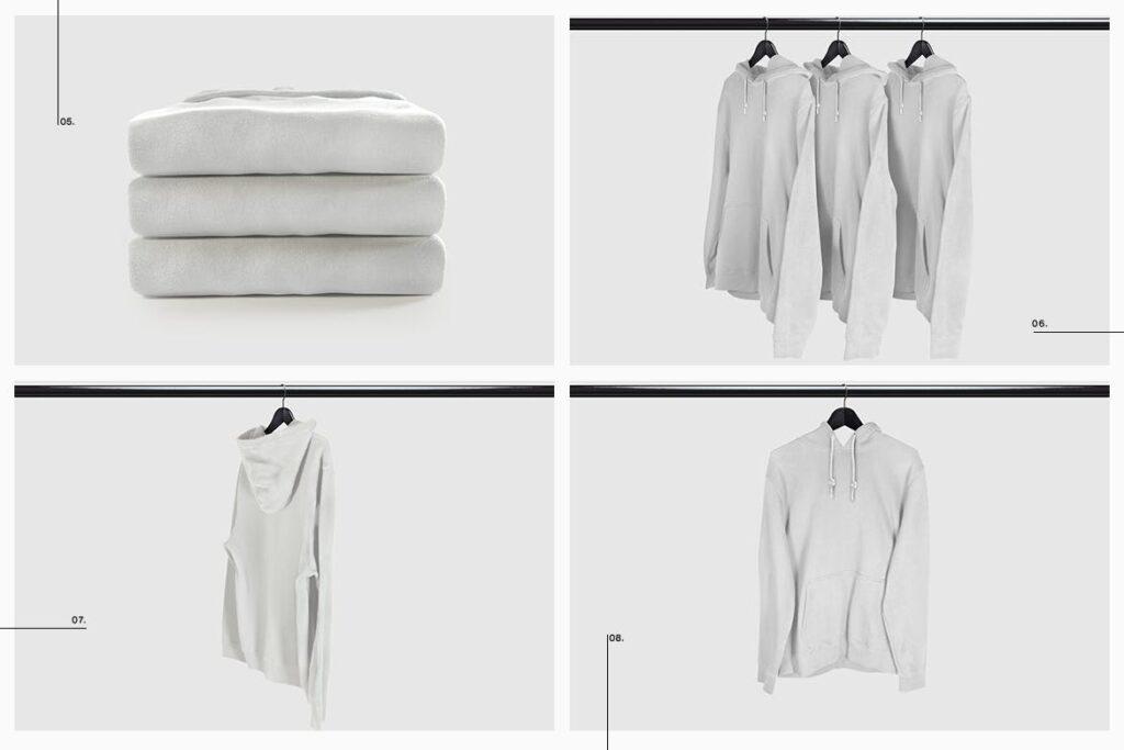 卫衣服装品牌展示样机模型效果图Hoodie Sweatshirt Presentation Mockup插图(11)