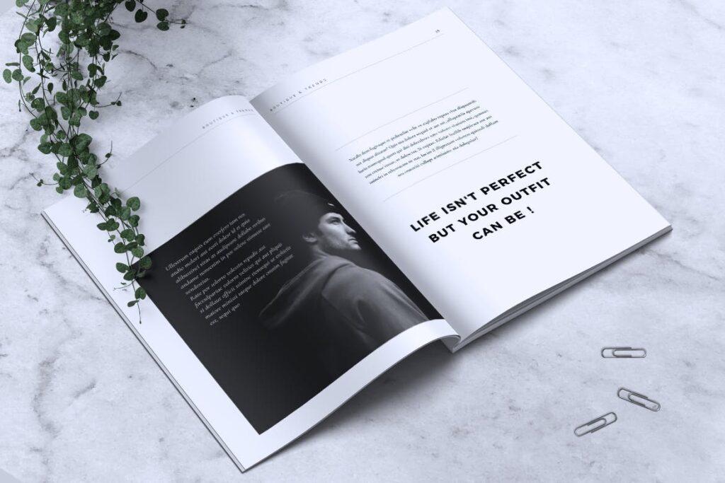优雅时尚多用途杂志模板MISQUEEN Minimal Magazine Styles插图(12)