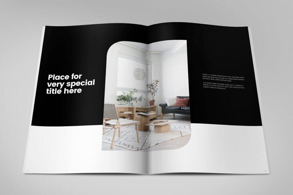 极简室内设计/居家生活美学杂志画册模板Minimal Interior Design Magazine插图(12)