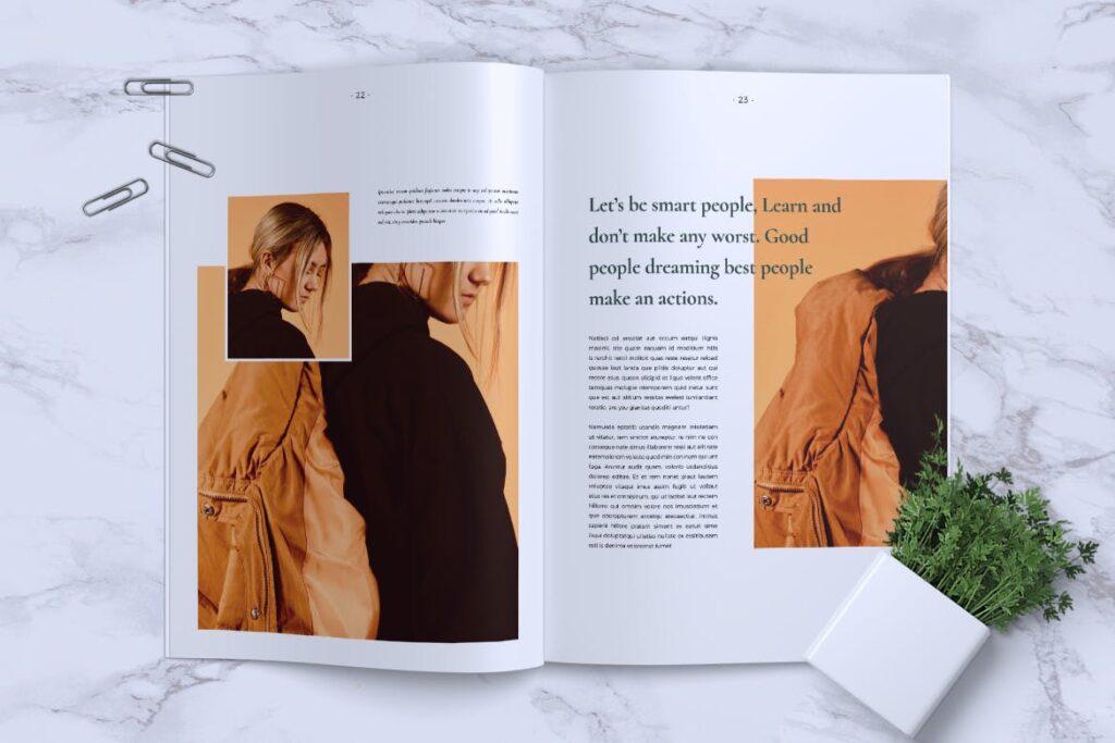 简约企业商务小册子目录/多用途画册模板PLUMERY Minimal Magazines插图(12)