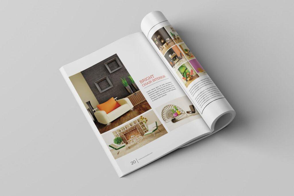 优雅简洁室内设计手册/目录/杂志画册模板PSD Interior Brochures Catalogs Magazine插图(12)